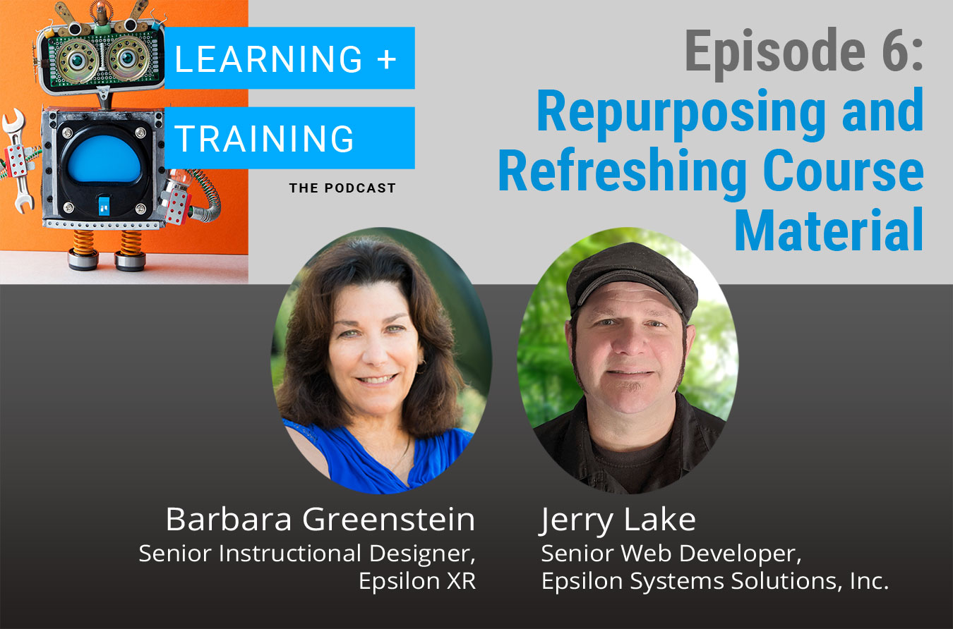 Repurposing and Refreshing Course Materials Podcast Graphic